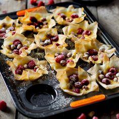Raspberry and Hazelnut Phyllo Tartlets - Le Creuset Recipes