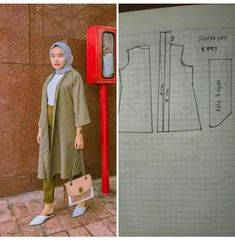 Abaya Pattern, Vest Pattern, Dress Sewing Patterns, Blouse Patterns, Cheap Formal Dresses, Couture Sewing, Cristiano, Kebaya, Sewing Techniques