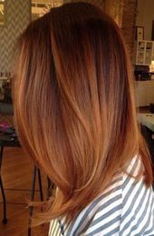 Lovely Copper Balayage - 60 Auburn Hair Colors to Emphasize Your Individuality - The Trending Hairstyle Auburn Hair Copper, Hair Color Auburn, Red Hair Color, Copper Hair Colour, Color Red, Auburn Red, Colour Colour, Copper Bob, Ombre Colour