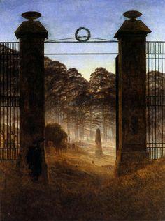 'The Cemetery Entrance', Oil On Canvas by Caspar David Friedrich (1774-1840, Germany)