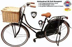 Hollandrad Damen 28 Zoll komplett mit großen Rattankorb braun: Amazon.de: Sport & Freizeit
