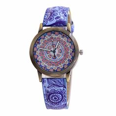 89f36cfef00 Ladies Imitation Porcelain Retro Strap Digital Dial Quartz Watch