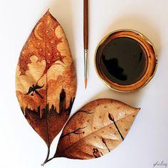 Der junge Künstler Ghidaq al-Nizar aus Indonesien verwendet die Überreste seines Morgenkaffees, um daraus ziemlich beachtliche Artworks zu zaubern.