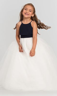 7d78bc02cd6 Tulle Flower-Girl Dress 126701 by Bill Levkoff