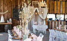 A photo of a wedding at The Wishing Well Barn