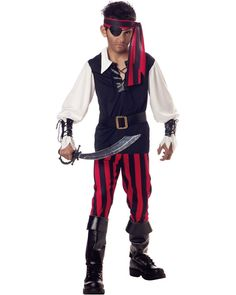 Cutthroat Pirate Boys Costume for an under the sea party