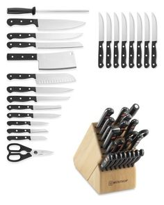 How cool would it be to have this Wüsthof Gourmet 23-Piece Knife Block Set?  It would be Awesome!!!