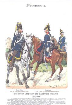 Band VII #51 - Preussen Landwher Dragoner und Husaren  1852-57