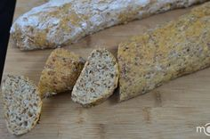 Panera Bread is my favorite, mostly for their whole grain baguette. I've ran a few samples of recipes, based on techniques from a successful recipe of (recipe/160), to create an experience, similar to the whole grain baguette. For enrichment, I've specifically selected flax and chia seeds, because of its nutrients; I was glad to see them also taste good in the final product.