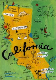 Something similar was created for a 4th grade class platter. They study California history that year and is a perfect tie in.