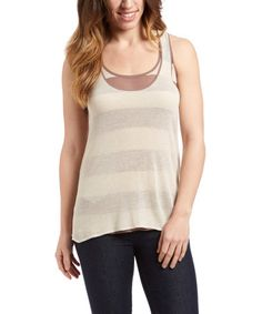 This Canvas & Putty Proto Linen-Blend Tank by Laurie b. is perfect! #zulilyfinds