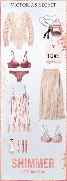 Shimmer & spice via rose-gold #lingerie. | Victoria's Secret