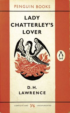 Postcards From Penguin:   100 Book Jackets in One Box - Lady Chatterley's Lover, D. H. Lawrence, 1960. Cover illustration by Stephen Russ