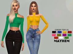 Crop Top 01 by NataliMayhem at TSR via Sims 4 Updates