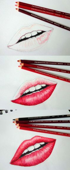 lips colored pencil drawing Little something I worked on today. First time drawing and coloring lips. Lips Sketch, Color Pencil Sketch, Eye Sketch, Colored Pencil Tutorial, Colored Pencil Techniques, Pencil Drawing Tutorials, Pencil Drawings, Drawing Lips, Horse Drawings