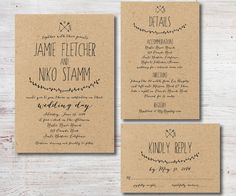 Rustic Wedding Invitation RSVP Details Card by SimplyFetchingPaper