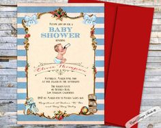 A personal favorite from my Etsy shop https://www.etsy.com/listing/456918540/boy-baby-shower-invitation-printable