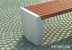 Hardwood Furniture, Concrete Furniture, Urban Furniture, Metal Furniture, Garden Furniture, Furniture Design, Outdoor Furniture, Outdoor Decor, Concrete Bench