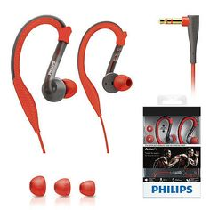 PHILIPS SHQ3200 ActionFit Sports Waterproof Washable Earhook Earphone Headphones
