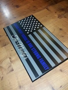 Behind every badge is one strong family. Thin blue line board. Police Girlfriend, Police Wife Life, Police Family, Cop Wife, Thin Blue Line Flag, Thin Blue Lines, Police Flag, Police Officer, Police Crafts