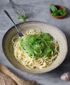 vegan spinach pasta sauce // pinterest @softcoffee