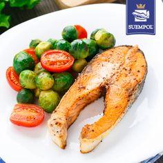 #salmon #tomato #brusselssprout #dinner #losos #pomidor #brukselka #obiad #dzwonek #suempol #przepisy #recipe