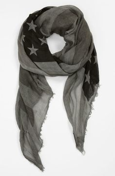 Flag print scarf