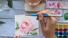 How to paint roses step by step in Watercolors Learn how to paint easy watercolor roses in 4 different ways! Step by step loose watercolor flower painting techniques for beginners. Get out your watercolor sketchbooks and paint with me! Tree Watercolor Painting, Watercolor Sketchbook, Floral Watercolor, Watercolor Landscape, Learn Watercolor Painting, Simple Watercolor, Watercolor Cards, Watercolor Beginner, Watercolor Paintings For Beginners