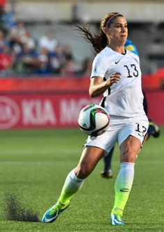 US player Alex Morgan during the Women's World Cup quarter-final against China at Lansdowne Stadium in Ottawa, Ontario on June 26, 2015