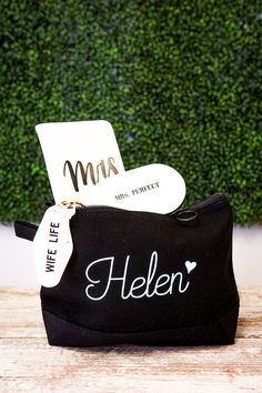 """Personalized makeup bag TOILETRY BAG DETAILS:-Zippered closure-Finger loop-Dimensions: 7"""" H x 11"""" W x 3"""" D-High quality 12 oz canvasHOW TO ORDER:⭐️Select the set you want from the dropdown menu, then add to cart. ⭐️Use the personalization box or the notes to seller box on the checkout page to enter the:✅NAME (or initials in the exact order to be printed)✅FONT NUMBER✅FONT COLORTo order a his and a hers set, you just need to add each one to your cart, one at a time. Return to the listing after…"""
