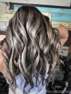 Are you looking for best hair colors to apply for long hair? Just see here, we have made a collection of fantastic long balayage colored hairstyles Wedding Hair Colors, Hair Wedding, Hair Color And Cut, Blonde Fall Hair Color, Fall Hair Highlights, Hair 2018, Great Hair, Purple Hair, Balayage Hair