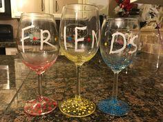 FRIENDS wine glasses