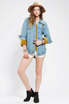 Somedays Lovin Old Friend Boyfriend Denim Jacket #urbanoutfitters