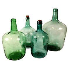 Vintage Belgian wine jugs