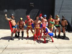 "Normally when you see ""Sexy Superheros"" you'd expect to see scantily clad women who's costumes barely suggest the hero they're dressing as. Here's one for the ladies ;)"