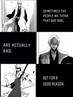 Gin Ichimaru Bleach These kind of characters are my weakness. Manga Quotes, Anime Qoutes, Blade Runner, Bleach Quotes, Ichimaru Gin, Aho Girl, Tsurezure Children, Bleach Manga, Gin Bleach