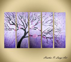 Hey, I found this really awesome Etsy listing at https://www.etsy.com/listing/258463441/purple-painting-multi-panel-original