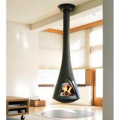 Want this for the gameroom Harrie Leenders Stoves | Harrie Leenders Pharos Interior Hanging Fire
