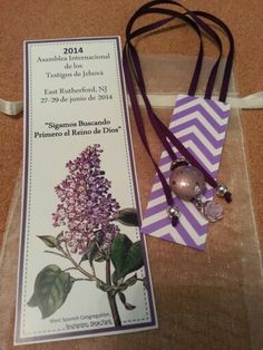 My gifts for the international convention. .. xtra ribbons for bible and a bookmark.