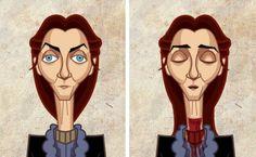 Les personnages de Game of Thrones Avant/Après : Catelyn Stark