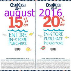 OshKosh B'gosh Coupons Ends of Coupon Promo Codes MAY 2020 ! and times holiday the incl. Free Printable Coupons, Free Printables, Oshkosh Bgosh, Hot, Free Printable