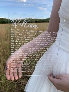 Engraved vows on acrylic custom engraved wedding vows engraved wedding acrylic wedding sign how to write your wedding vows 3 simple steps Cute Wedding Ideas, Wedding Goals, Perfect Wedding, Fall Wedding, Wedding Ceremony, Our Wedding, Wedding Planning, Dream Wedding, Wedding Inspiration