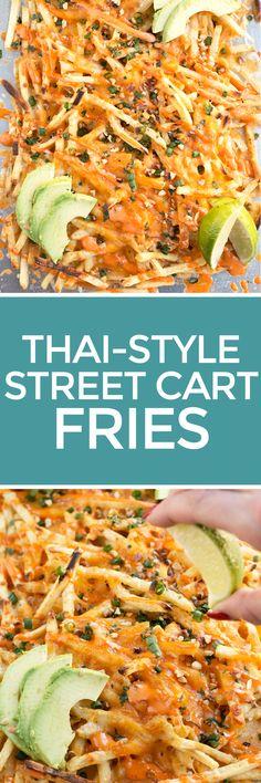 Thai Street Cart Fries – Cake 'n Knife - Easy Ethnic Recipes Seasoned Fries, Thai Street Food, Vietnamese Street Food, Vegetarian Recipes, Cooking Recipes, Asian Recipes, Ethnic Recipes, Fries Recipe, India Food