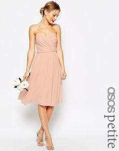 ASOS PETITE – WEDDING – Mittellanges Baneau-Kleid