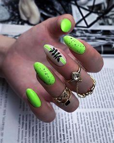 Bright Nail Designs, Long Nail Designs, Simple Nail Art Designs, Bright Nails, Neon Nails, Stylish Nails, Trendy Nails, Nail Salon Design, Nail Art Designs Videos