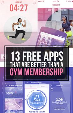 13 Free Apps That Are Better Than A Gym Membership #FitnessApp [ GroovyBeets.com ]