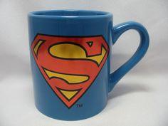 Superman Shield Coffee Cup Mug 14 Oz. Blue with Red Holographic DC Comics New #DCComics