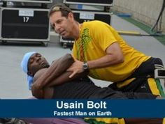 Usain Bolt getting a Chiropractic Adjustment...