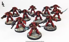Blood Angels Tartaros Terminators Horus Heresy Commission ~ LilLegend Commission Painting Studio