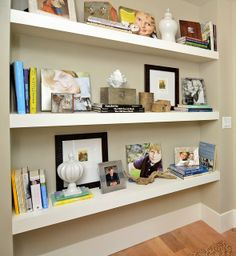 Room Recipes: A Creative, Stylish Guide to Interior Design. Built in shelfs on side of fireplace..